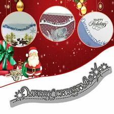 Merry Christmas Lace Metal Cutting Dies Stencils Scrapbooking Card Making VC
