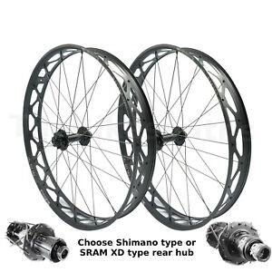 "Sun Ringle MULEFUT V2 26"" Thru-Axle 15x150 Front & 12x197 Rear Fat Bike Wheelset"