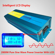 LCD Display Pure Sine Wave power inverter 2000W Peak 4000W DC 12V TO AC 230V