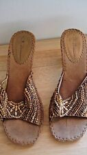 CL by Laundry Womens Kitten Heels 7B Brown Multi-Color Man Made /Seed Bead