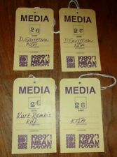 PHOENIX SUNS 1989 playoffs media passes (Kurt Rambis, HOF ref Darrell Garretson)