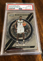 2019 PANINI NBA ZION WILLIAMSON RC SILVER PSA 10 PLAYER OF THE DAY #100 Pop 2!