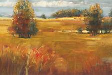 Carol Rowan: October Light Fertig-Bild 60x80 Wandbild Felder Bäume Landschaft