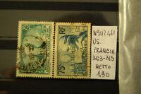 FRANCOBOLLI FRANCIA USATI N. 303+313 (A12461)