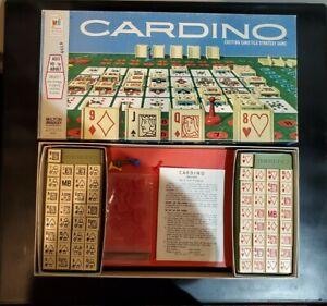Vintage Cardino Card Tile Strategy Game 1970 Milton Bradley - Complete
