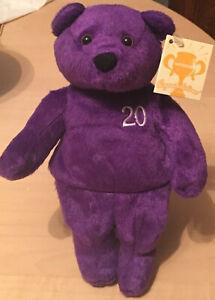 "NWT Nutrisystem Weight Loss NutriBear Plush Beanie 9"" Purple Bear 20 Pound Goal"