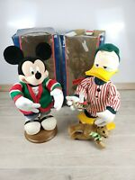 "Santa's Best 18"" Animated Donald Duck And Mickey Mouse Christmas Disney Holiday"