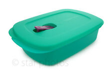 Tupperware Rectangular CrystalWave Plus 4-Cup Microwave Reheatable Container NEW