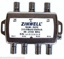 New DirecTV Zinwell 3X4 SAM-3402 Multi-Switch Multiswitch Direct TV Approved