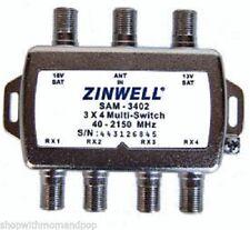 New DirecTV Zinwell 3X4 SAM-3402 Multi-Switch Multiswitch Direct TV Approved