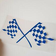 Azul Bandera a Cuadros Pegatina Vinilo para Fiat Tipo Grande Punto Qubo ¡ Bravo