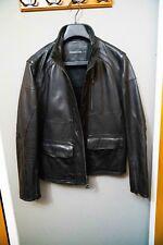 John Varvatos Collection Motocross Leather Jacket Size 48 Mens M SlimFit ($1495)
