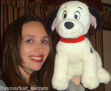 "Disney 101 Dalmatians Dog 12"" Red Collar Plush Stuffed Animal LUCKY VINTAGE TOY"