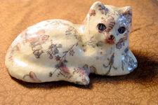 Vintage Folk Art Decoupage Cat Sculpture  Crafts Paper Mache