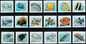 """DOMINICA - 1997 MNH """"Definitive Set - FISH"""" Complete Set Of 18 Stamps !!"""