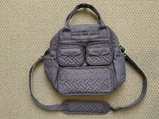 LUG Mini Puddle Jumper quilted tote bag overnight travel - gray - NWOT