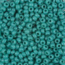 150 beads approx Opaque Peridot Toho Seed Beads Size 6 4mm #7462