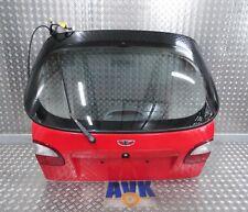 Heckklappe, Daewoo Lanos KLAT, rot, komplett mit Wischermotor + Wischerarm
