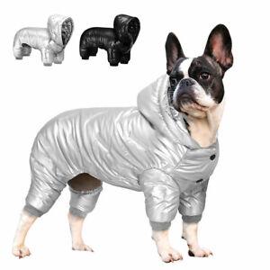 Waterproof Dog Hoodie Pet Jumpsuit Clothes Warm Fleece Winter Coat Small Jacket