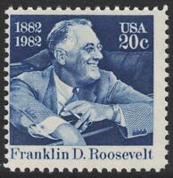 Scott 1950- Franklin D. Roosevelt, US President- 20c MNH 1982- unused mint stamp