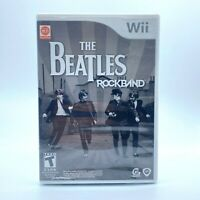 The Beatles: Rock Band (Nintendo Wii, 2009) Game & Manual in Case Tested Working