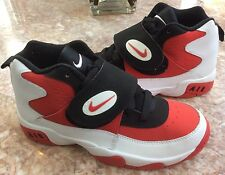 NEW Nike Air Mission Kids' White/Fire Red/Black Sneakers Size 6Y (630911-100)