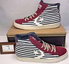 CONVERSE MENS SIZE 9 CONS SCARPE PRO LEATHER VULC MID BARS MAROON SNEAKERS NEW