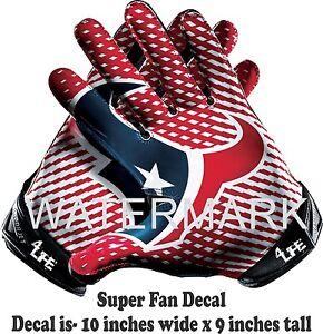 "Houston Texans  4LIFE 10"" NFL Car Window Wall Vinyl Glossy Glove Decal Stickers"