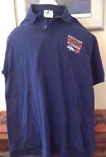 Denver Broncos 1997 Champions Polo Shirt S Navy Blue Cotton Logo Athletics XL