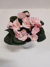 Usambaraveilchen  Seidenblume Kunstpflanze rose rosa 28064-10 getopft F69
