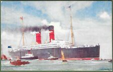 More details for cunard liner rms caronia. artist signed advert for cunard by charles dixon 1905.