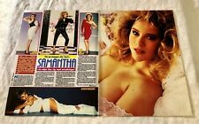 Samantha Fox 1980s Clippings Poster Swedish magazine Okej Vintage