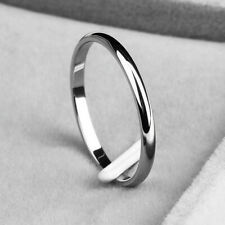 2mm Thin Stackable Ring Stainless Steel Plain Band for Women Girl Size 3-10 A++