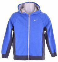 NIKE Boys Hoodie Sweater 12-13 Years Large Blue Cotton  O014