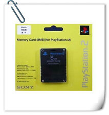 SONY PS2 PLAYSTATION 2 MEMORY CARD 8MB black compatible third party