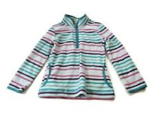 Faded Glory Girls Size Small Pullover Striped Zippered Neck Soft Long Sleeve Sz6