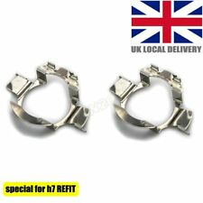 2pcs H7 LED Headlight Bulbs Metal Clip Holder Adapters Retainer For VXXXXXXX