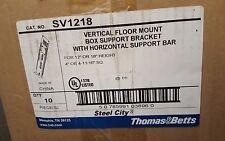 Steel City Vertical Floor Mount Box Support Bracket w/ Horizontal Support Bar