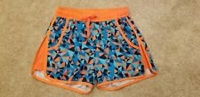 H&M Youth Girls Blue/Orange/Gray Sport Running Shorts, Size 12-14