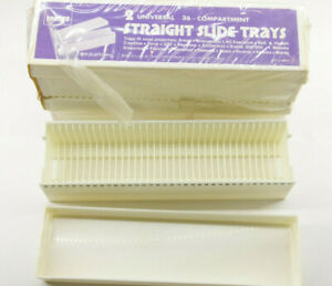 (3) Yankee Universal Projector Straight Slide Trays 36 Compartment - NOS - P09A