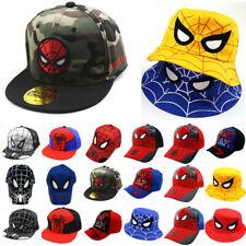 Baby Boys Girls Spiderman Baseball Cap Bucket Hats Hip Hop Sports Snapback Caps