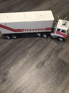"Vintage Nylint FIRESTONE Promotion GMC 18 Wheeler 22"" Semi truck Tractor Trailer"