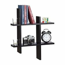 Relaxdays Mensola sospesa a 6 scomparti forma Irregolare Libreria da Append...