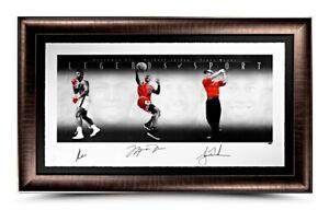 Jordan, Woods, Ali. Legends Of Sports Platinum Edition Framed #5 of 100