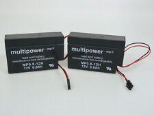 2 xMultipower MP0.8-12H 12V 0,8 Ah |Blei-AKKU|Akku mit Stecker z.B.Heim und Haus