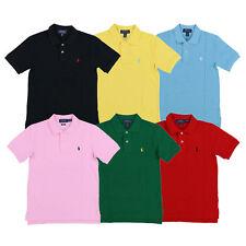 Polo Ralph Lauren Boys поло классический сетка с коротким рукавом пони с логотипом Kids топ