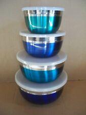 Edelstahl-Schüssel-Set 8 teilig blue Sea TERZI