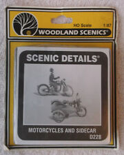 HO Woodland Scenics Kit Scenic Details Motorcycles and Sidecar D228 Unopened NOS