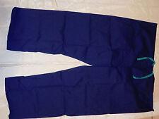 3 Pc Best Medical Unisex Reversible Scrub Pant with Pocket Navy Sz Medium Petite