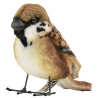 7cm Hansa Tree Sparrow Plush Soft Cuddly Realistic Handmade Stuffed Animal Toy